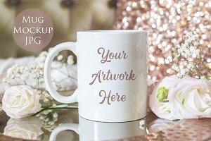 Mug mockup- Elegant Rose Gold