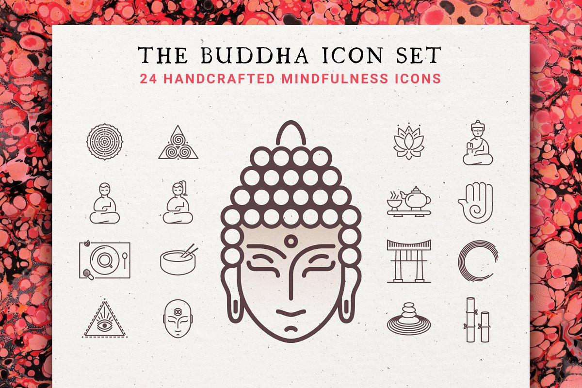 The Buddha 24 Icon Mindfulness Set