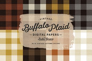 Autumn Buffalo Plaid Digital Papers
