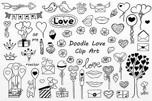 Doodle Love Clip art