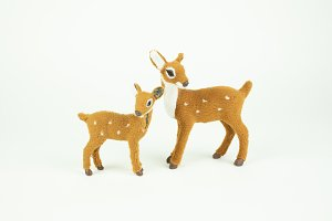 Felted Deer Figurines