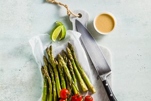 fresh healthy ingredients from green
