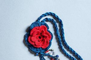 Crochet Floral Necklace