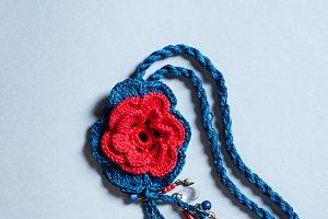 Crochet Floral Necklace