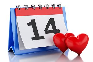 3d Valentine's Day, February 14 in c