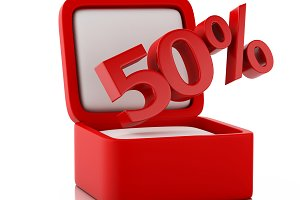 3d gift box with 50 percent discount