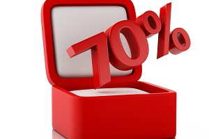 3d gift box with 70 percent discount