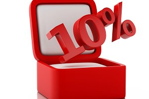 3d gift box with 10 percent discount