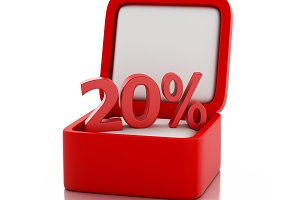 3d gift box with 20 percent discount