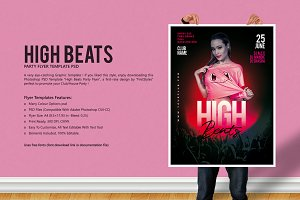High Beats Party Flyer Template
