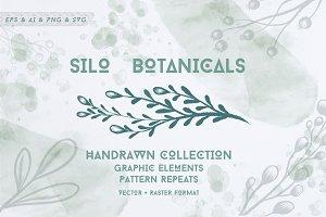Silo Botanical Hand Drawn Graphics