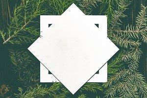 creative christmas flat lay layout w