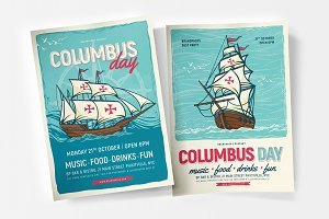 Columbus Day Flyer & Poster Template