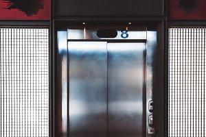 Modern elevator indoors