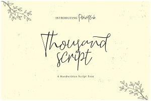 NEW FONT_Thousand Script