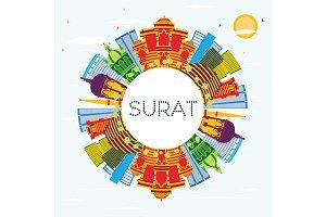 Surat India City Skyline