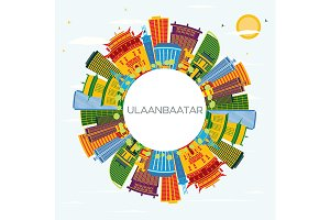 Ulaanbaatar Mongolia City Skyline