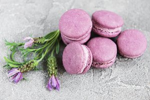 french macarons with lavender flavor