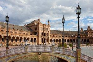Bridge and Pavilion at Plaza de Espa