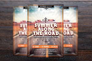 Summer Along The Road Flyer
