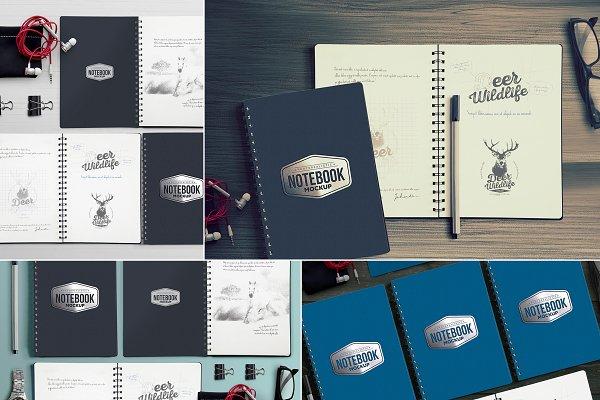 4 Notebook Mockups