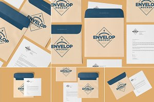 Square Envelope Mockups