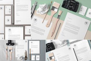 4 Stunning Stationery Mockups Set