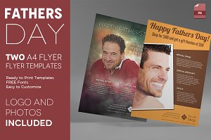 Two Fathers Day Flyers Templates