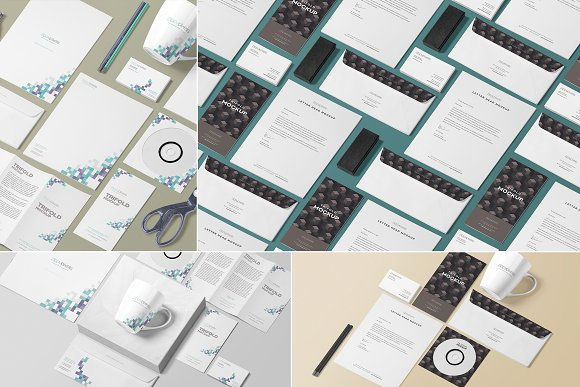 isometric stationery scene creator product mockups creative market