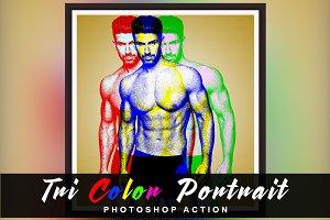 Tri Color Portrait Photoshop Action