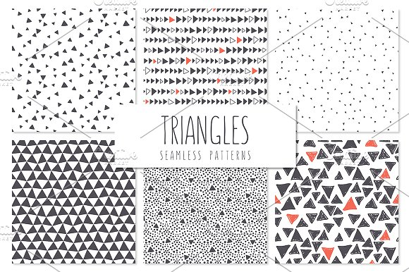 Triangles. Seamless Patterns Set 5 - Patterns