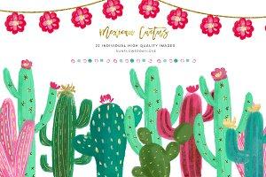 Mexican Succulent Clipart