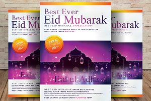 Eid Greeting Flyer Design