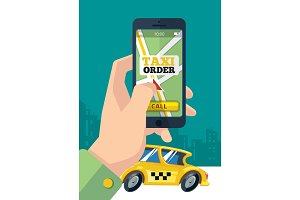 taxi order. urban transportation