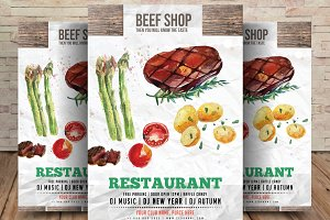 Butcher and Beef Shop Flyer Template