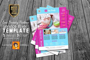 Spa Beauty Parlor Service Flyer