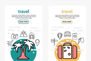 Travel vertical banners