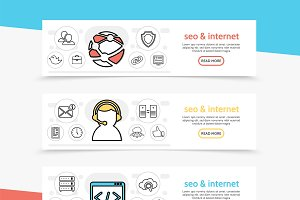 Seo and internet horizontal banners