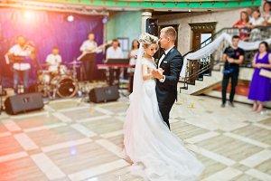 First wedding dance of gorgeous wedd