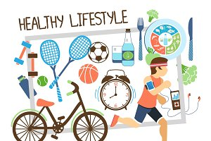 Flat active lifestyle composition