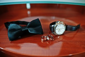 Men's accessories for groom at weddi