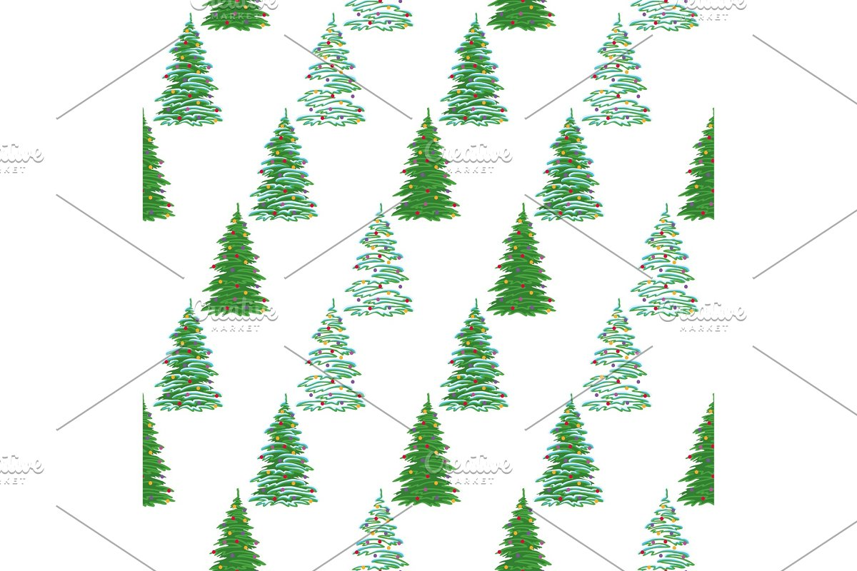 Seamless Background Christmas Trees Graphic Patterns Creative