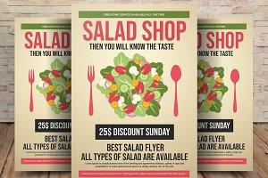 Salad Restaurant Flyer Template