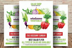 Vegetarian Salad Food Flyer