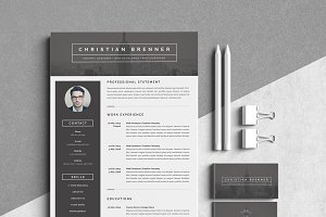 Modern Resume Template 3 Pages