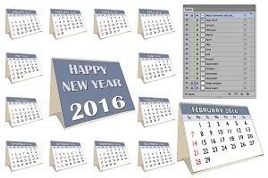 Year 2016 complete calendar