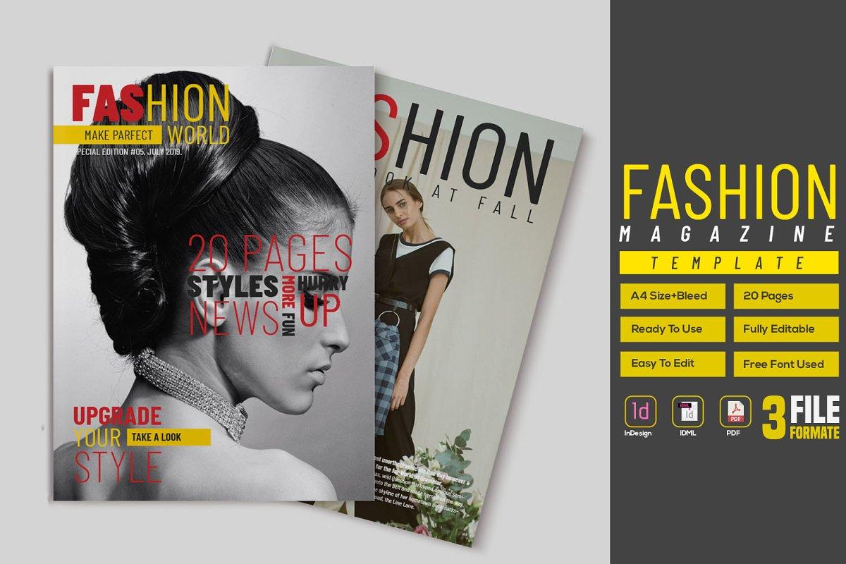 Fashion Magazine Template ~ Magazine Templates ~ Creative Market