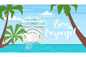 Cruise, travel and tourism concept