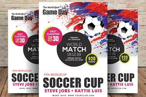 Word Soccer Cup Flyer