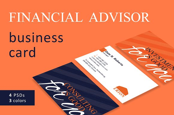 Financial Advisor Business Card Cards